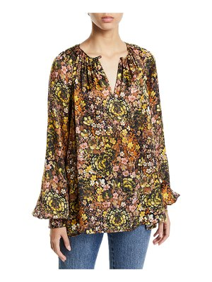 Co. Floral Silk Raglan-Sleeve Tunic