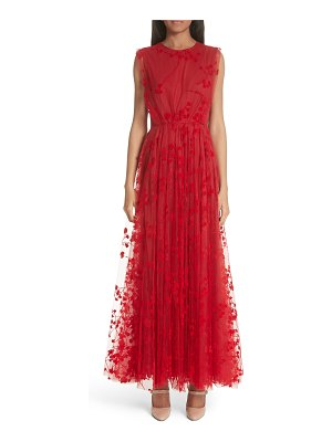Co. floral tulle maxi dress