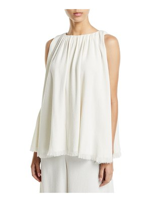 Co. Fringed Sleeveless Halter Swing Blouse