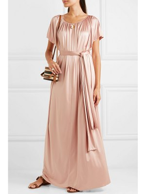 Co. gathered stretch-sateen maxi dress