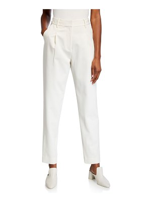 Co. High-Rise Cotton/Wool Trousers