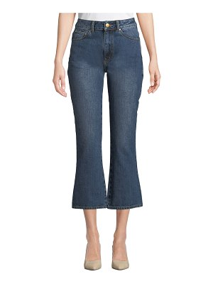 Co. High-Rise Five-Pocket Flared-Leg Cropped Jeans