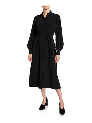 Co. Long-Sleeve Belted Midi Shirtdress