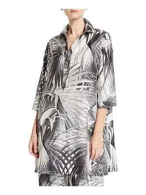 Co. Long-Sleeve Palm Print Tunic