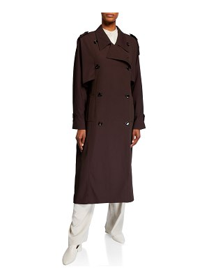 Co. Nylon-Cotton Double-Breasted Trench Coat