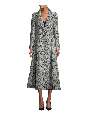 Co. One-Button Jacquard Princess Coat