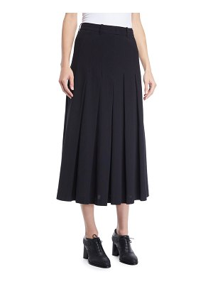 Co. Pleated A-Line Long Lightweight Suiting Skirt
