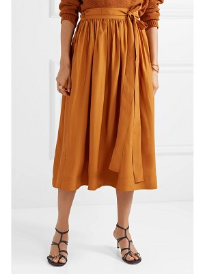 Co. pleated broadcloth wrap skirt