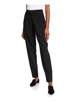 Co. Pleated High-Rise Trousers