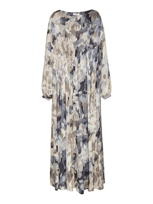 Co. printed ruched maxi dress