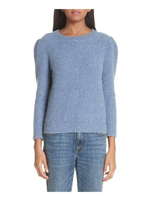 Co. puff shoulder cashmere crepe sweater