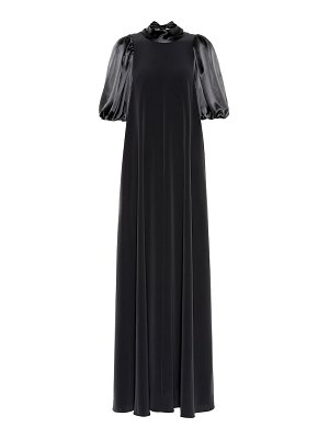 Co. puff-sleeve gown