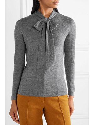 Co. pussy-bow cashmere sweater