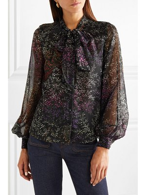 Co. pussy-bow floral-print silk-chiffon blouse