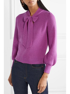 Co. pussy-bow ribbed cashmere sweater