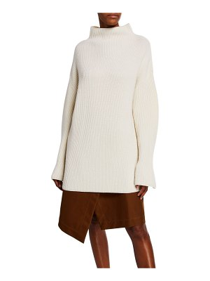 Co. Ribbed Mock-Neck Turtleneck Sweater