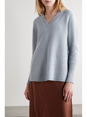 Co. ribbed wool and cashmere-blend sweater