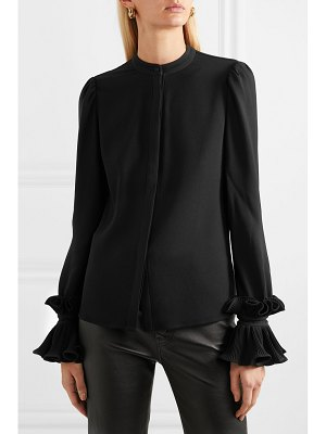 Co. ruffled crepe blouse
