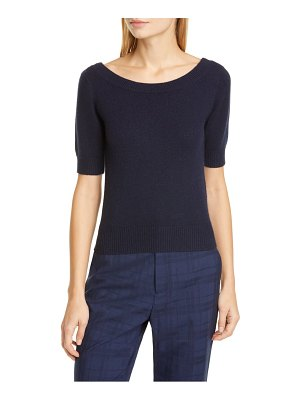 Co. short sleeve cashmere sweater
