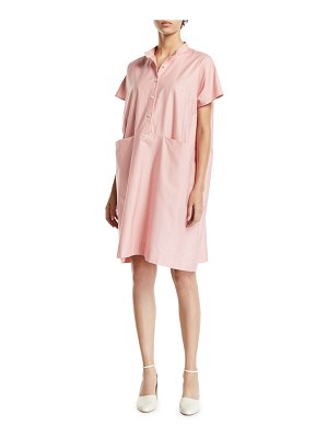 Co. Short-Sleeve Poplin Mini Shirtdress