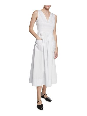 Co. Sleeveless V-Neck Cotton Dress w/ Pockets