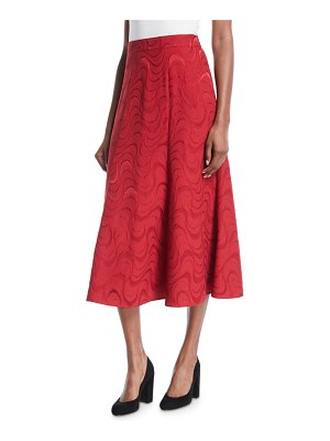 Co. Spiral-Jacquard A-Line Midi Cocktail Skirt