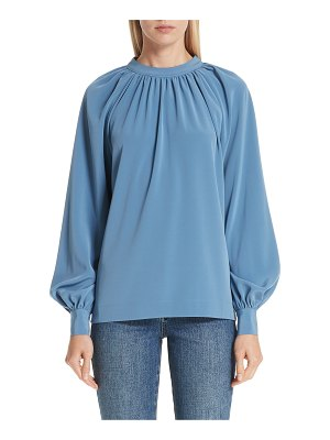 Co. stretch crepe tie back blouse