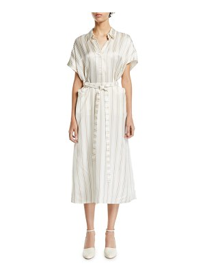 Co. Striped-Twill Shirtdress