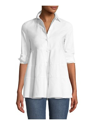 Co. Tiered Button-Front Blouse
