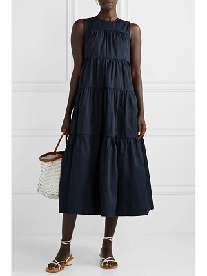 Co. tiered cotton-sateen midi dress