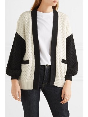 Co. two-tone silk and cotton-blend cardigan