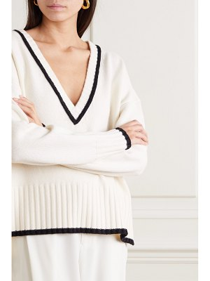 Co. two-tone wool and cashmere-blend sweater