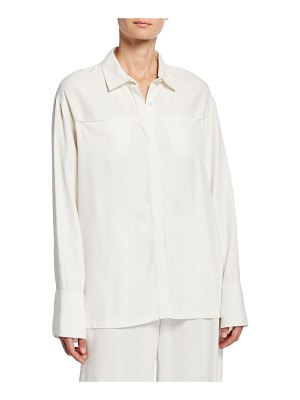 Co. Wide-Cuffed Jersey Button-Front Shirt