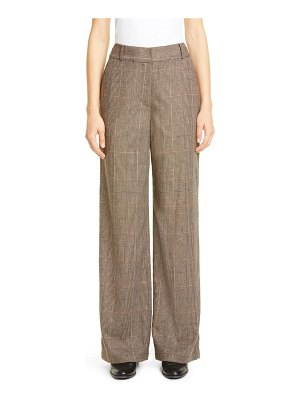 Co. wide leg glen plaid pants