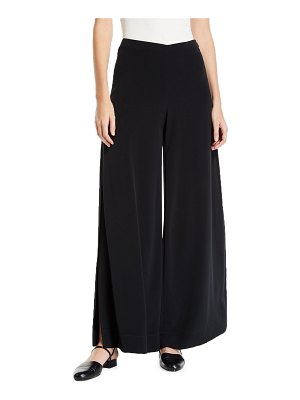 Co. Wide-Leg Side-Slit Trousers