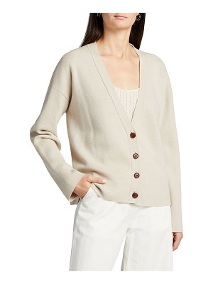 Co. Wool-Blend Button-Front Cardigan