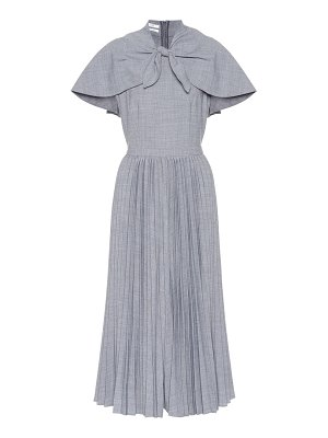 Co. Wool-blend pleated midi dress