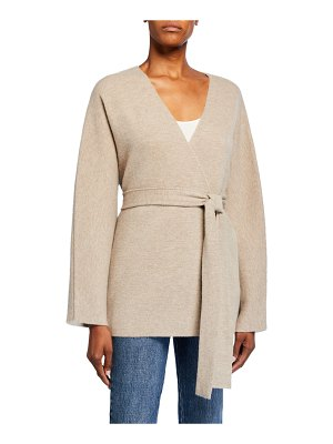 Co. Wool-Cashmere Belted Cardigan