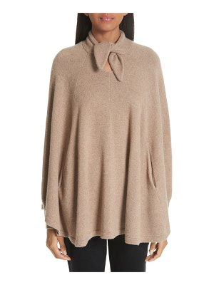 Co. wool & cashmere tie neck sweater cape