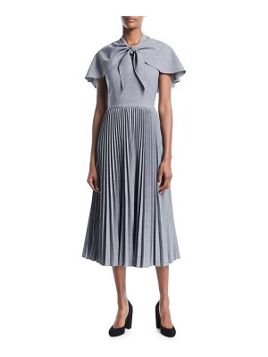 Co. Wool Suiting Midi Dress with Attached Capelet