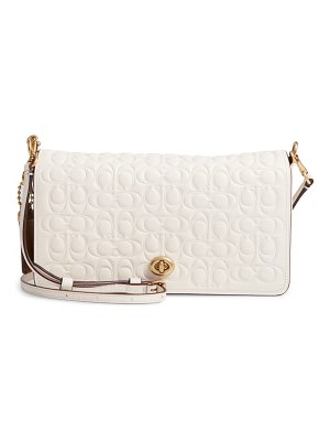 COACH 1941 logo embossed dinky leather crossbody clutch