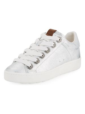COACH C101 Metallic Leather Low-Top Sneakers