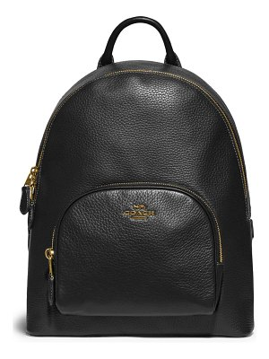 COACH carrie 23 polished pebble leather backpack