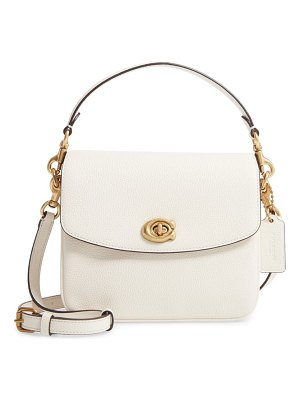 COACH cassie leather top handle bag