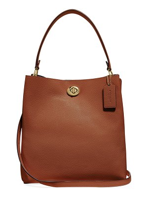 COACH Charlie Pebbled Leather Bucket Bag