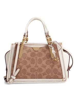 COACH dreamer 21 signature canvas & leather satchel