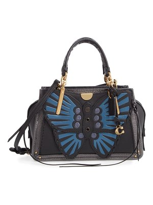 COACH dreamer 21 whipstitch butterfly leather satchel