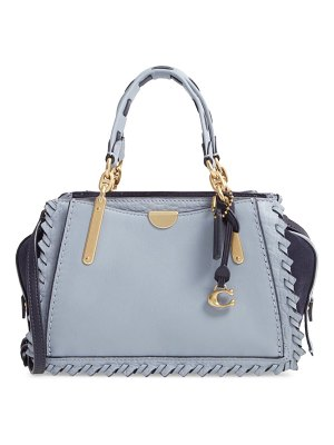 COACH dreamer 21 whipstitch colorblock leather satchel