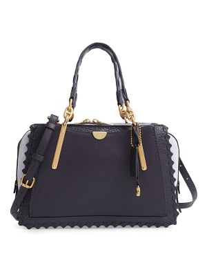 COACH dreamer whipstitch colorblock leather satchel