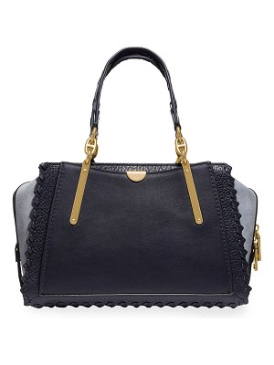 COACH Dreamer Whipstitched Colorblock Leather & Suede Satchel Bag